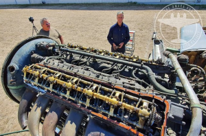 First Run of Merlin 25 Engine in 50 years- Sounds Like A Monster