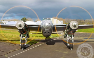DH Mosquito TV959 Double Engine Run