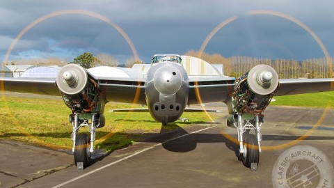 DH Mosquito TV959 Double Engine Run | World War Wings Videos