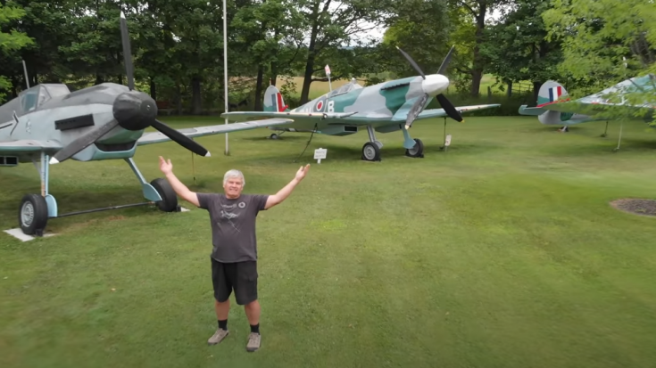 Retired Guy Makes Full-Size Replicas of WWII Planes From Recycled Materials   World War Wings Videos