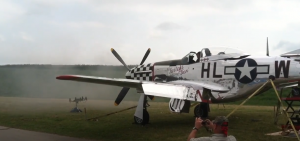 P-51D Mustang firing 6 .50 caliber M2 Brownings
