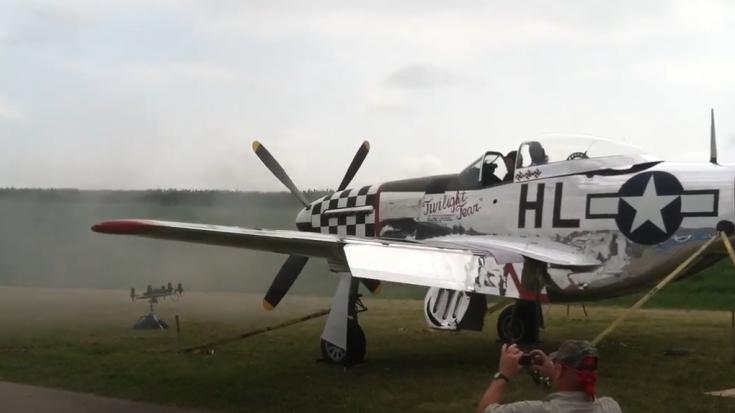 P-51D Mustang firing 6 .50 caliber M2 Brownings   World War Wings Videos
